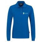 Poloshirt, Langarm, tailliert, Erw., 50/50, royal